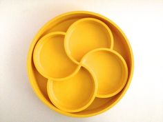 Vintage Dansk Mod Yellow Plastic Serving Tray by PoolhausVintage