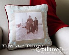 Vintage Photo Pillow Tutorial | Positively Splendid {Crafts, Sewing, Recipes and Home Decor}