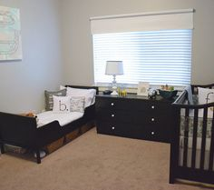 Like the storage under the bed. Simple Nursery