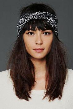 15 hair ideas with scarf #ideas #hair #scarf #brunette