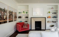 Parisian Modern Flat - Pacific Heights - modern - living room - san francisco - by Sutro Architects