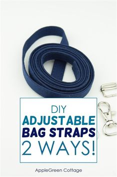How to make adjustable straps for any bag you want! Easy sewing tutorial for bag sewing, this adjustable bag strap tutorial will help you make your sewing projects - your own bags - look better. #bagsewing #sewingtips #sewing #diybags