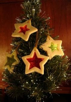 dough ornaments - something to make with the kids for xmas!