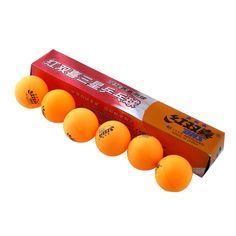 6 Unids/Cajas de 3 estrellas DHS 40 MM Olímpicos Tenis de Mesa Ping Pong Balls Naranja Amarillo Durable Para Trainning la competencia