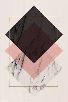 Rose Gold Wallpaper, Framed Wallpaper, Flower Background Wallpaper, Geometric Wallpaper, Cute Wallpaper Backgrounds, Wallpaper Iphone Cute, Pretty Wallpapers, Aesthetic Iphone Wallpaper, Geometric Art