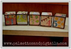 DIY Custom Name Blocks from Palmettos and Pigtails