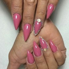Love the shade of pink, not the rhinestones though