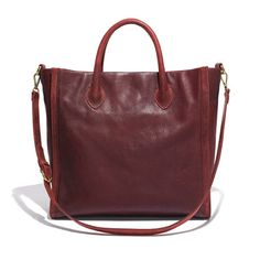 Number 1 on our fall wishlist?? This burgundy Madewell tote. SO rich!