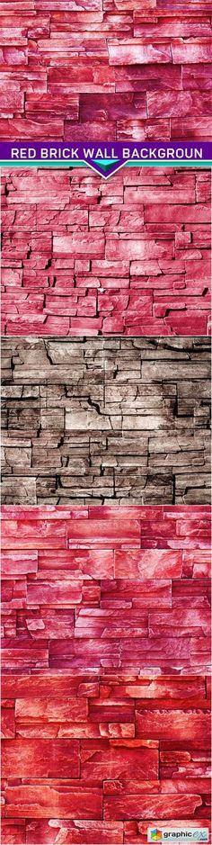 Red brick wall backgroun 5x JPEG  stock images
