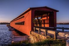 Langley Covered Bridge, Centreville, Michigan. It's Michigan's longest. Michigan travel. Cool places in Michigan. Michigan love.