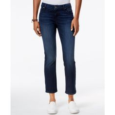 Kut from the Kloth Reese Cropped Security Wash Flare-Leg Jeans ($39) ❤ liked on Polyvore featuring jeans, security, white jeans, cropped jeans, flare leg jeans, white cropped jeans and kut from the kloth