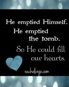 Why emptiness at Easter? for us...