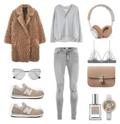 """""""Unbenannt #817"""" by fashionlandscape ❤ liked on Polyvore featuring New Balance, B&O Play, CLEAN, ELLE Time & Jewelry, Fleur of England, Prada and MANGO"""