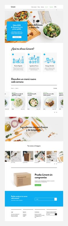 Created in Mexico City, Liment offers home food delivery services through a variety of healthy and easy-to-prepare under 45 minute recipes.