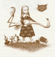 alice, alice in wonderland and Cheshire cat image on We Heart It Lewis Carroll, Alice In Wonderland Illustrations, Go Ask Alice, Adventures In Wonderland, Wonderland Alice, Rabbit Hole, Pablo Picasso, Fairy Tales, Illustration Art