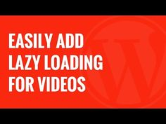 How to Easily Add Lazy Loading for Videos in WordPress http://imhabib.com/easily-add-lazy-loading-videos-wordpress/