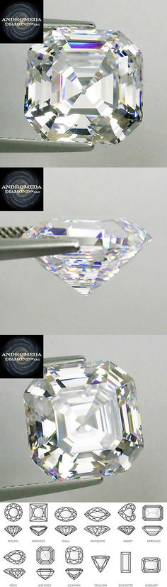 Synthetic Moissanite 110800: 5Ct. Loose Asscher Synthetic Stone By Andromeda Outshines Diamond And Moissanite -> BUY IT NOW ONLY: $178.88 on eBay!