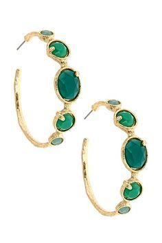 Cabana Jewel Collection Hoop Jewel Earrings