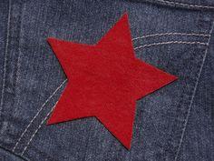 Stern (Größe L) rot Bügelmotiv Applikation 90mm von Silwarin auf DaWanda.com