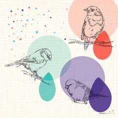Affiche Poster Oiseaux pour Enfant - L'Encre Violette - L'Affiche Moderne