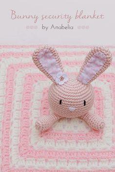 Bunny security blanket free #crochet pattern