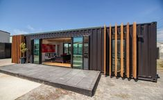 shipping container house converted from two 40' containers: