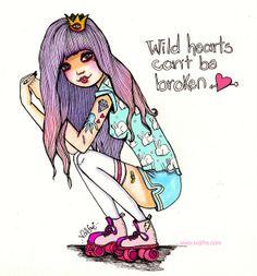 Wild hearts can't be broken by Valfrè <3, via Flickr