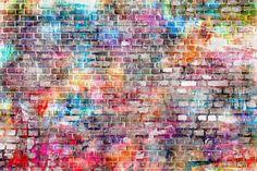 Graffiti Brick Wall Photography Backdrop for Studio Spray Wa.- Graffiti Brick Wall Photography Backdrop for Studio Spray Wall Photo Background for Photo Booth Props - Brick Wallpaper, Textured Wallpaper, Photo Wallpaper, Graffiti Photography, Photography Backdrops, Graffiti Wall, Wall Murals, Wall Art, Reproductions Murales