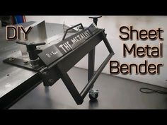 DIY Sheet Metal Bender - Bending (Plans available) - YouTube Metal Furniture, Furniture Design, Sheet Metal Bender, Welding Training, Metal Bending, Welding Projects, Diy Tools, Woodworking Shop, Inventions