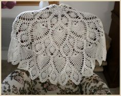 pineapple shawl--charted pattern