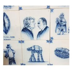 unique tiles specially made for a client, with president Trump