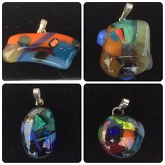 glashangers  #glasfusing #jewelry #glass #handmade made by @keizergoed , Meer info... Facebook.com/keizergoed