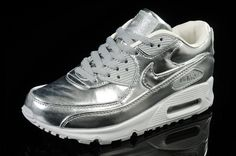 cdef40191cf2  shoes  womens  sneakers Nike Air Max 90 PREM Tape Luxury Silver Liquid  Metal Lovers 616170 090 running 2015 shoes
