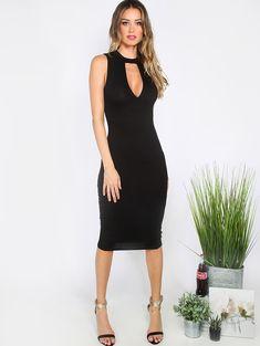 Shop Black Cutout Sleeveless Sheath Midi Dress online. SheIn offers Black Cutout Sleeveless Sheath Midi Dress & more to fit your fashionable needs.