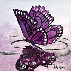 """Wildlife Art International: Contemporary Butterfly Painting, Nature Art, """"BUTT..."""