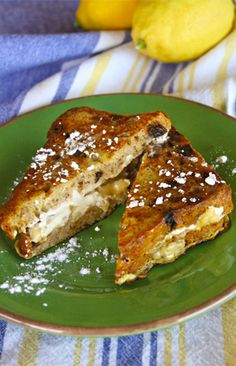 Banana, honey and cream cheese Monte Cristo sandwiches