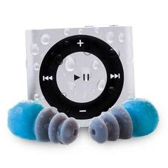 For swimmers: the waterproofed iPod Shuffle swim kit. | 28 Clever Products You Need To Get In Shape For 2014