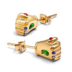 These Marvel Infinity Gauntlet Stud Earrings look Marvelous. You get a pair of Infinity Gauntlets loaded with Infinity Stones. Marvel Fan, Marvel Dc Comics, Marvel Avengers, Marvel Room, Avengers Shirt, Marvel Infinity, Infinity War, Marvel Clothes, Cute Jewelry
