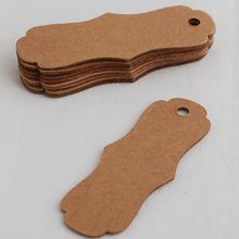 25 Kraft Paper 750gsm Card Blank Sewing Label Gift Tag - Vintage Style