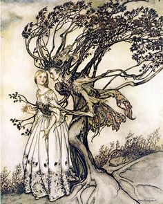 Cindi and mama tree   Arthur Rackham