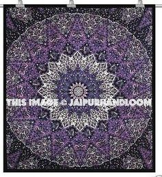 purple dorm room tapestry hippie burning man blanket bedspread