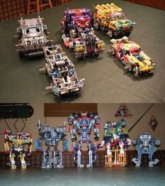 These are custom transformers built out of knex. I use the movie designs to model them out. Took a long time to get them just right. Each one of them fully transforms and doesn't have to be ta...