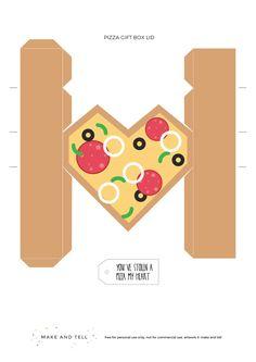 Parte 2 de 2. Caja pizza-corazón.