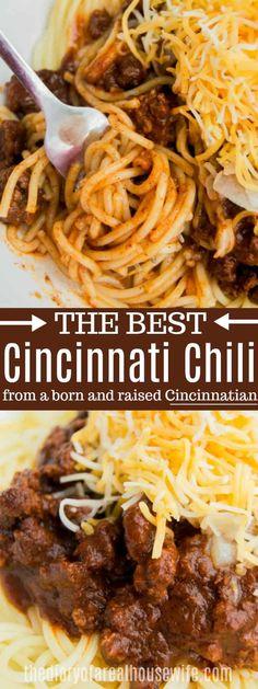 Cincinnati Chili Spaghetti Recipes, Pasta Recipes, Soup Recipes, Dinner Recipes, Cooking Recipes, Cooking Chili, Chili Spaghetti, Chili Pasta, Gourmet