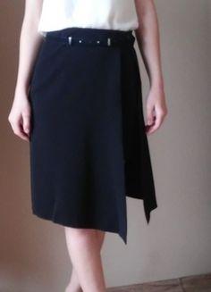 Kup mój przedmiot na #vintedpl http://www.vinted.pl/damska-odziez/spodnice/13626343-czarna-spodnica-asymetryczna-zakladana-zara-38-m-nowa