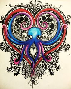 Octopus in some shape (not a heart)