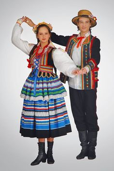 The Krzcznowski outfit - Polish national dress of the southwest Lublin region. Ethnic Outfits, Ethnic Dress, Folk Costume, Costume Dress, Poland Costume, Poland People, European Costumes, Folk Clothing, Polish Clothing