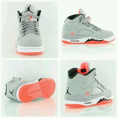 This sneaker is pure fire! Air Jordan 5 Retro GG & Lava& Jordan is heating up for summer. A ladies exclusive featuring Wolf Grey and Hot Lava. Women's Shoes, Cute Shoes, Me Too Shoes, Shoe Boots, Shoes Sneakers, Roshe Shoes, Jordans Sneakers, Sneakers Mode, Girls Sneakers