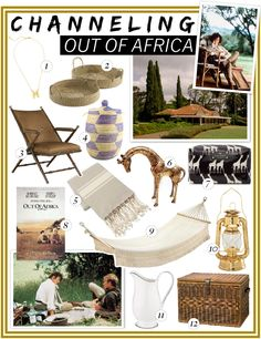 Out of Africa decorating style. Now, if only I had an old Kenyan mansion..