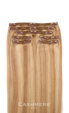 Sunset Blonde Clip in hair extensions. The number one selling blonde hair extensions.